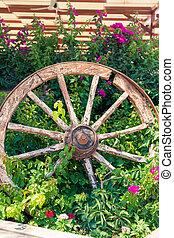 車輪, 壊される, 古い, ワゴン