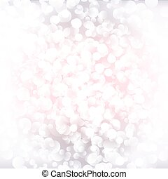 White and pink vector bokeh background