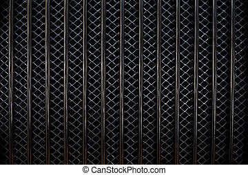 Car Grill Pattern - Closeup image of a metal car grill