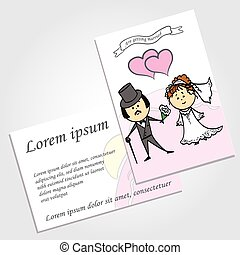 Couple in love, background, wedding invitation, vector.