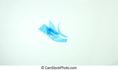 Plastic recycle animation - recycle concept Empty used...