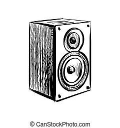 Doodle speaker icon