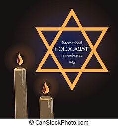 Holocaust Remembrance Day Vector illustration, EPS 10