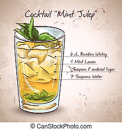 Cocktail Mint julep - Classic Kentucky derby cocktail the...