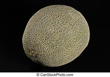 cantaloupe melon - fresh cantaloupe melon on black...