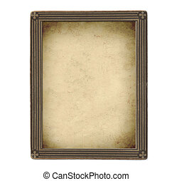 Vintage photo frame - isolated over white