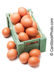 Egg crate on white background