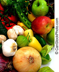 Vegtables And Fruit - Assorted fresh fruit and vegetables...