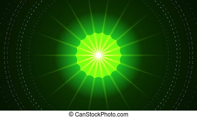 green abstract background, kaleidoscope, loop