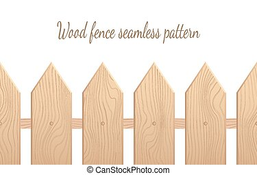 Wood fence seamless pattern, wooden paling background