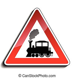A sign warning train