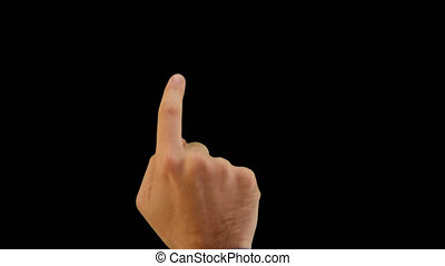 Cucasian Young Man Screen Gestures - Middle-aged man...