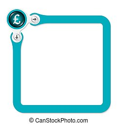 Green frame for your text and pound sterling symbol