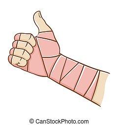 Broken Hand Doing Thumb Up