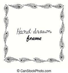 Hand drawn vector illustration frame