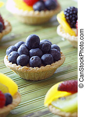 blueberry fruit tart - mini fruit tart. Very tasty dessert...