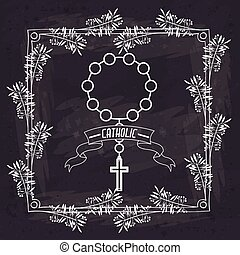 holy rosary design, vector illustration eps10 graphic