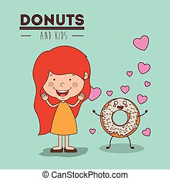 donuts and kids design - donuts and kids design, vector...