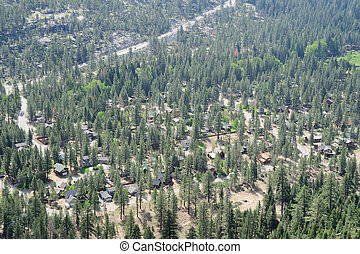 Lake Tahoe valley - Aeriel view as viewed from Echo Pass of...