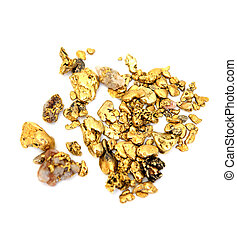 Gold Nugget - Gold nuggets of various sizes and shapes...