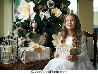 Cute toothless girl rejoices Gift for Christmas - Cute...