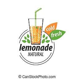 logo for lemonade - Vector icon for drinks and lemonades...