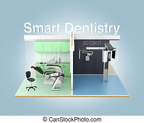 Front view of dental clinic