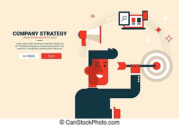 Company strategy concept flat design for landing page...