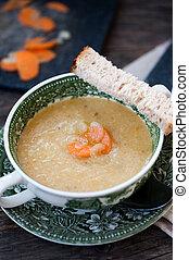 grönsak, soppa, grädde