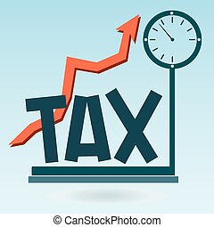 The tax on the scales, growth of taxation.