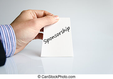 Sponsorship text concept isolated over white background