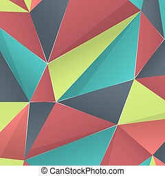 Polygonal colored background, vector illustration or...