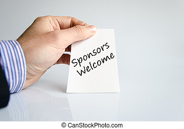 Sponsors welcome text concept isolated over white background