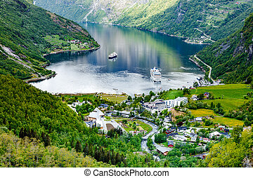 Geiranger fjord, Norway - Geiranger fjord, Beautiful Nature...