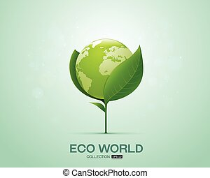 world on leaf eco world green world