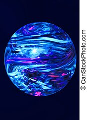 Small Planet - Blue planet on dark blue background
