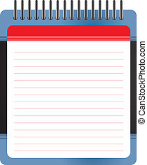 Blank white notepad - Illustration of isolated blank white...