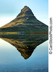 Reflection of Mount Kirkjufell - The famous Mount Kirkjufell...