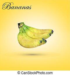 triângulos,  bananas, consistindo
