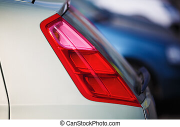 Taillight on a car - Closeup of a taillight on a modern car...