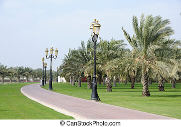 Park in Sharjah City, United Arab Emirates