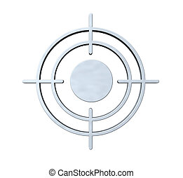 gun sight on white background - 3d illustration
