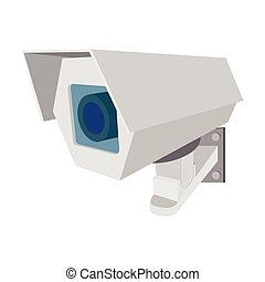 Surveillance camera cartoon icon