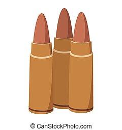 Three bullets cartoon icon
