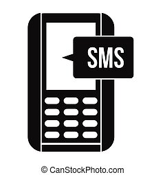 Mobile phone with sms message symbol