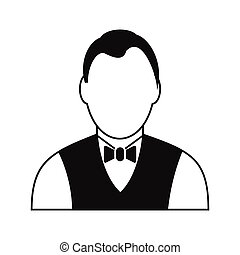 Croupier black simple icon isolated on white background