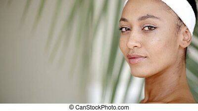 Young Adult Woman - Close-up portrait of young adult woman...