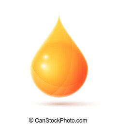 Oil drop logo isolated on white realistic vector...
