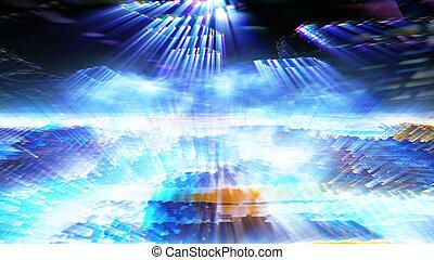 Futuristic Digital Tech Display 10700 - Futuristic digital...