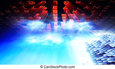 Futuristic Digital Tech Display 10695 - Futuristic digital...